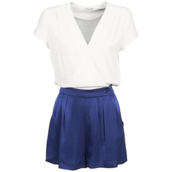 Textil Mulher Macacões/ Jardineiras Naf Naf KLOVIS Branco / Azul