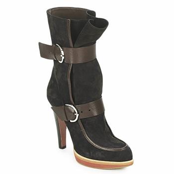 Sapatos Mulher Botins Michel Perry WILD Madras-marrom