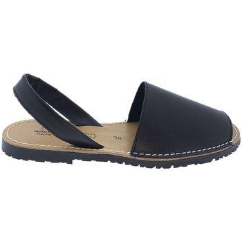Sapatos Sandálias Huran Sandalias Menorquinas Negro Preto
