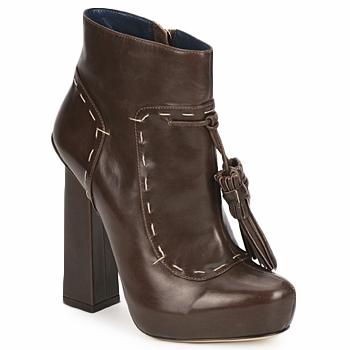 Sapatos Mulher Botins Pollini PA2405 Branco / verde / preto