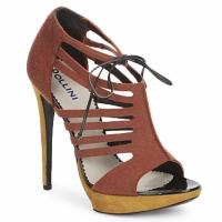 Sapatos Mulher Sandálias Pollini PA1602 Feltro-ferrugem
