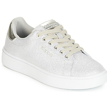 Sapatos Rapariga Sapatilhas Kappa SAN REMO KID Branco / Prata