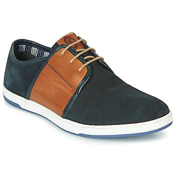 Sapatos Homem Sapatilhas Base London JIVE Azul / Camel