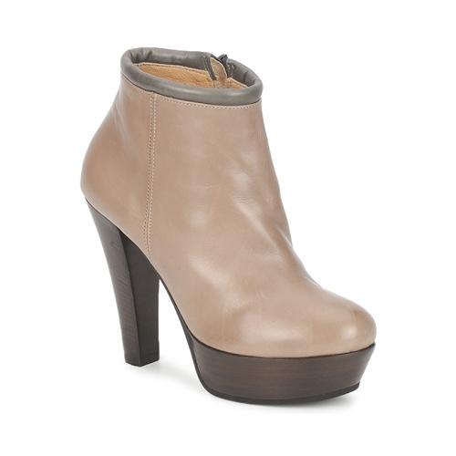 Sapatos Mulher Botas baixas Keyté POULOI Toupeira