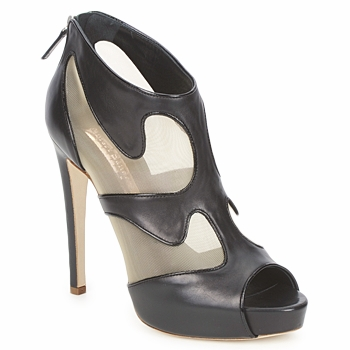 Sapatos Mulher Botas baixas Rupert Sanderson ORBIT Preto / Bege