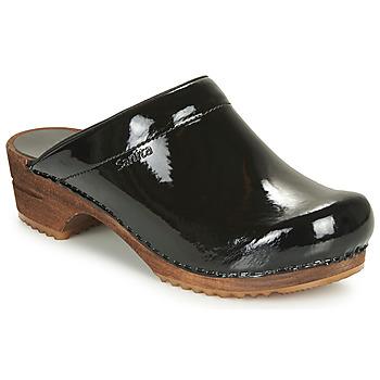 Sapatos Mulher Tamancos Sanita CLASSIC PATENT Preto
