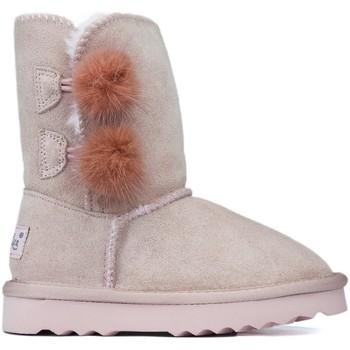 Sapatos Criança Botas baixas Oca Loca Botas Oca Loca Pompon Rose ROSA