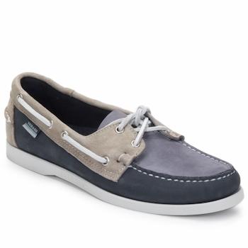 Sapatos Homem Sapato de vela Sebago SPINNAKER Navy / Branco / Azul