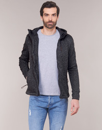 Textil Homem Sweats Superdry STORM INTERNATIONAL ZIPHOOD Preto
