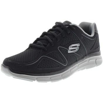 Sapatos Homem Sapatilhas Skechers Satisfaction Flesh Point Preto