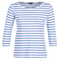 Textil Mulher T-shirt mangas compridas Armor Lux YAYAROULE Branco / Azul