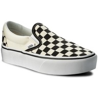 Sapatos Mulher Slip on Vans Classic Slipon Platform Branco,Preto