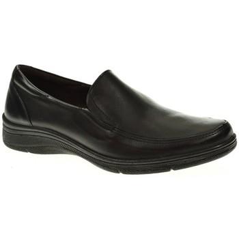 Sapatos Mulher Mocassins Blanco Y Negro 2840 Negro