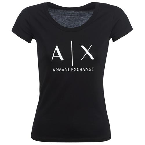 Textil Mulher T-Shirt mangas curtas Armani Exchange HELBATANTE Preto