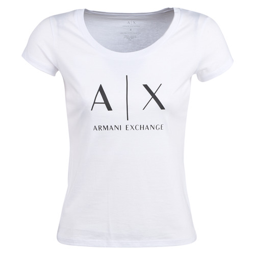 Textil Mulher T-Shirt mangas curtas Armani Exchange HELIAK Branco
