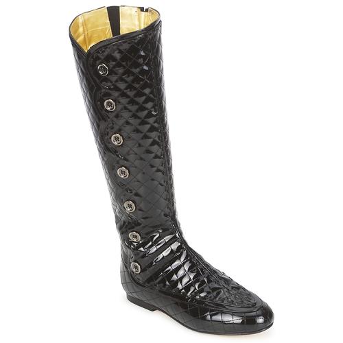 Sapatos Mulher Botas French Sole PUMPKIN Preto