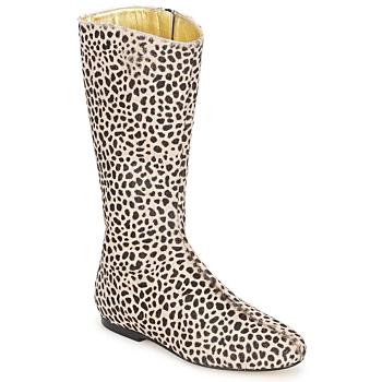 Sapatos Mulher Botas French Sole PATCH Leopardo