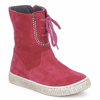 Sapatos Rapariga Botas baixas Naturino VELOUR Framboesa