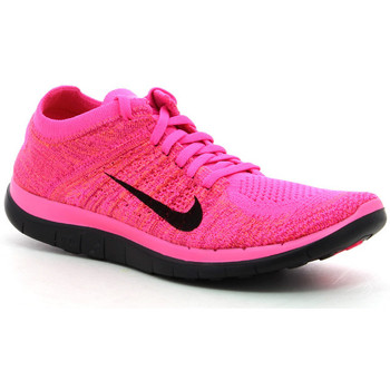Sapatos Mulher Sapatilhas de corrida Nike Wmns Free 4.0 Flyknit Rosa