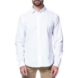 Textil Homem Camisas mangas comprida Fil Noir  Blanco
