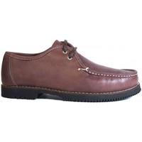 Sapatos Homem Mocassins La Valenciana Zapatos Línea Apache Wallabee Cordón Burdeos Vermelho