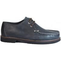 Sapatos Homem Mocassins La Valenciana Zapatos Línea Apache Wallabee Cordón Azul Azul