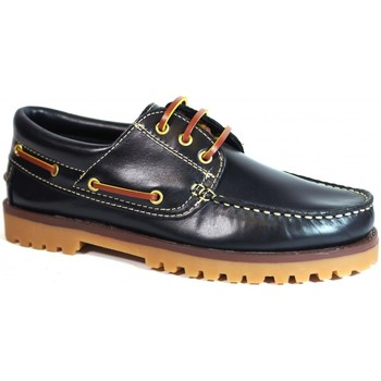 Sapatos Homem Sapato de vela La Valenciana Zapatos  848 Marino Azul