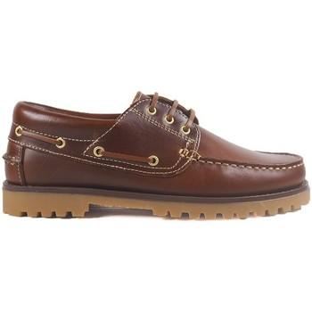 Sapatos Homem Sapato de vela La Valenciana Zapatos  848 Beirao Castanho