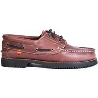 Sapatos Homem Sapato de vela La Valenciana Zapatos Línea Apache Cordón Burdeos Vermelho
