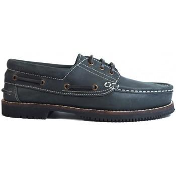 Sapatos Homem Sapato de vela La Valenciana Zapatos Línea Apache Cordón Azul Azul