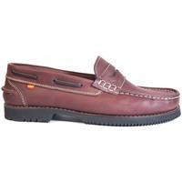 Sapatos Homem Sapato de vela La Valenciana Zapatos Línea Apache Antifaz Burdeos Vermelho