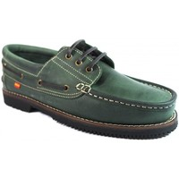 Sapatos Homem Sapato de vela La Valenciana Zapatos Línea Apache Cordón Verde Verde