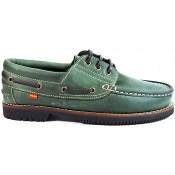 Sapatos Homem Sapato de vela La Valenciana ZAPATOS LÍNEA APACHE CORDÓN VERDE vert