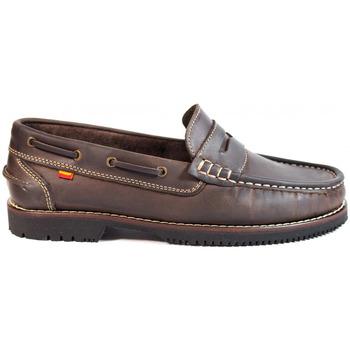 Sapatos Homem Sapato de vela La Valenciana ZAPATOS LÍNEA APACHE ANTIFAZ MARRÓN Marrón