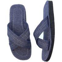 Sapatos Homem Sandálias Selquir ZAPATILLAS DE CASA  441 TEJANO Azul