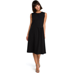 Textil Mulher Vestidos Style S154 Blazer de botão único - preto