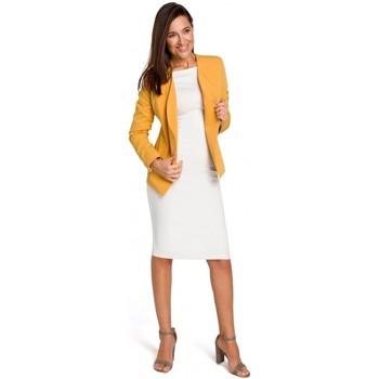 Textil Mulher Casacos/Blazers Style S140 Blazer à medida com fechos de correr - amarelo