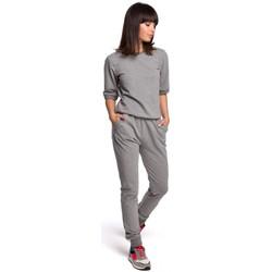 Textil Mulher Todos os fatos de treino Be B104 fato com decote em V - cinzento