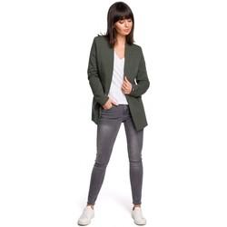 Textil Mulher Vestidos Be B103 Blazer plus de tamanho aberto - verde militar