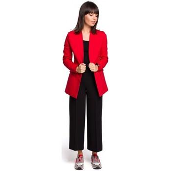 Textil Mulher Tops / Blusas Be B102 blazer aberto de algodão - vermelho