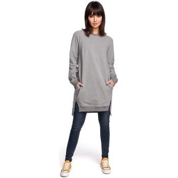Textil Mulher Vestidos Be B101 Túnica sobredimensionada com lados fendidos - cinza