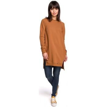 Textil Mulher Vestidos Be B101 Túnica sobredimensionada com lados fendidos - caramelo