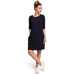 Textil Mulher Tops / Blusas Moe M422 Vestido de cintura baixa com laço - azul-marinho