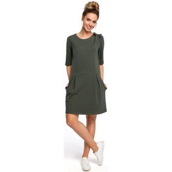 Textil Mulher Vestidos curtos Moe M422 Vestido de cintura baixa com um laço - verde militar