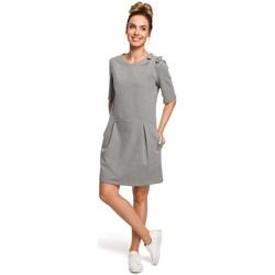 Textil Mulher Vestidos Moe M422 Vestido de cintura baixa com um laço - cinzento