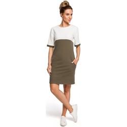 Textil Mulher Vestidos Moe M418 Vestido colorblock shift - verde militar + ecru