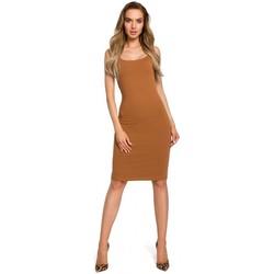 Textil Mulher Vestidos Moe M414 Vestido de corpete de alça grossa - caramelo