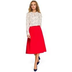Textil Mulher Sweats Style S133 Saia midi de linha A - vermelha