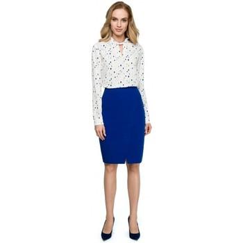 Textil Mulher Casacos de malha Style S127 Saia lápis de embrulho - azul real