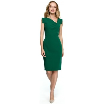 Textil Mulher Vestidos curtos Style S121 Vestido a lápis com decote assimétrico - verde